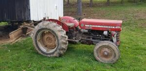 Massey Ferguson Tractor, attachments, and tools