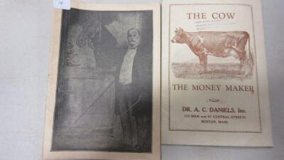 2 DR. DANIELS MEDICINE BOOKS 1933 REVISED EDITION