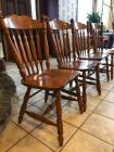 4 oak side chairs