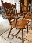 2 oak captain chairs