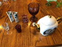Teapot, Goblet, Toothpick Holders, and more