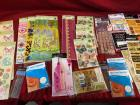 Large lot of assorted stickers, paper, page borders and embellishments
