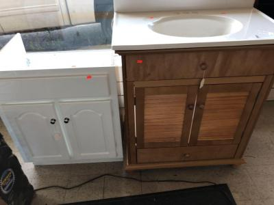 "Bathroom vanities, 30""x 20"", 30"" x 18"""