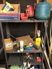 "30"" x 12"" x 59"" metal shelving unit/jumper cables, gas cans, floor dry and more"