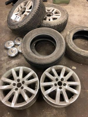 205/65R15 Tires, 275/65R18 tires with rims, ford center caps, rims