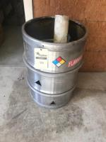 Stainless Steel Barrel, approx 55 gallon, converted to burn barrel