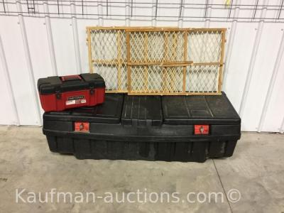Work box, carry toolbox w/ tools & 2 door safety gates