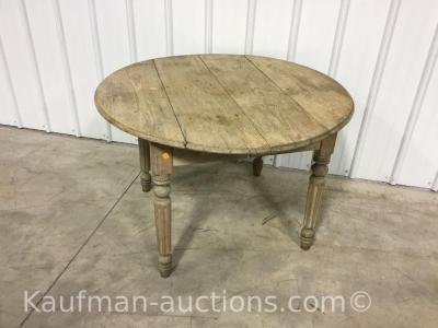 Primitive round top table