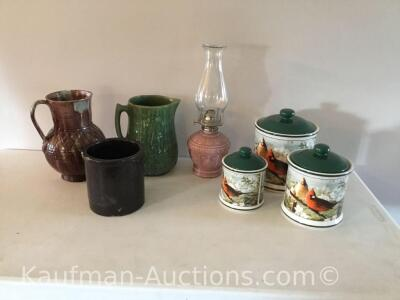 Ceramic pitchers, Canister Sets & misc