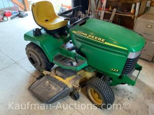 John Deere riding mower.