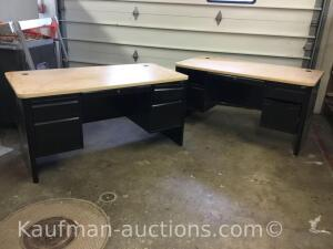 2 kneehole desks
