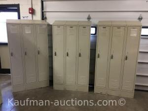 3 compartment Metal Lockers