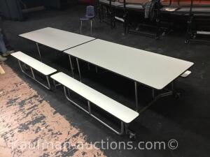 11 1/2' mobile cafeteria tables