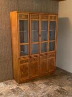 Veneer China Cabinet, size will be updated