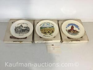Three Holmes County antique festival Knowles plates