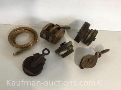 Wooden pulleys & misc pulleys