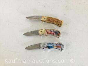 3 Commemorative Knives
