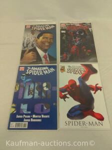(4) The amazing Spider-Man comic books