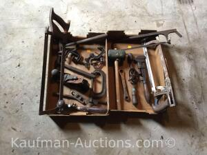 Hand saws, c clamps, etc