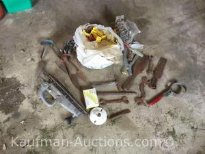 Sheep shears, fencing items, tool, etc