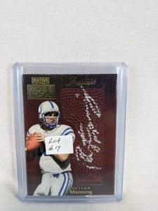 1999 Absolute Boss Hogs Peyton Manning On Card Auto