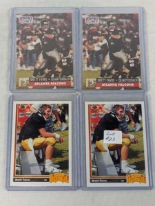 Lot of 4 1991 Brett Favre Rookie Cards
