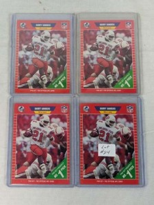 Lot of 4 1989 Pro Set Barry Sanders Rookie Cards
