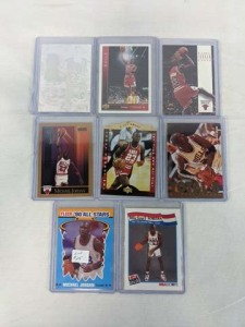 Lot of 8 Different Michael Jordan Cards Inserts and Base