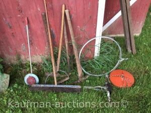 Hand picks, broom, etc