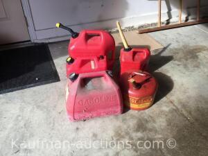 Gas cans/ plastic & metal