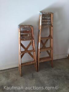 4' & 6' Wooden Step Ladders