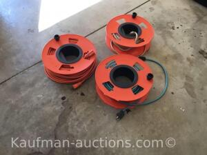 3 electric cord Reels w/ Cords