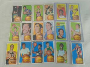 1970-1971 Topps basketball lot of 40 with Jerry Lucas