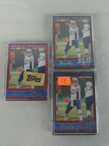 Topps Superbowl limited edition sets (only 199 made) w/ Brady & Farve