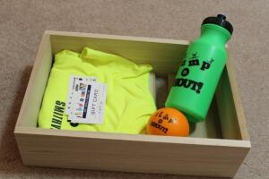 T shirt, Water bottle, and ball and 3 free admissions and a loyalty card