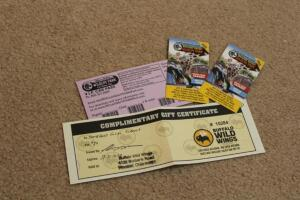 8 Guests with one vehicle free passs , $20 Buffalo Wild Wings