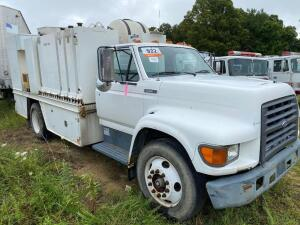 1995 Ford F series service truck, toolboxes, tanks, 102,248 miles, 15' bed length