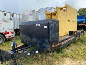 Parker Bumper hitch 7'x 24' trench box trailer/w trench box 3' x 8' x 16'