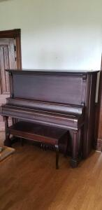 J.D. Longshore Cabinet Grand Upright Piano Serial # 98676