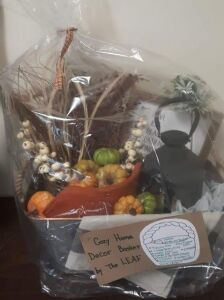 """Cozy Home Décor Basket"" donated by The LEAF"