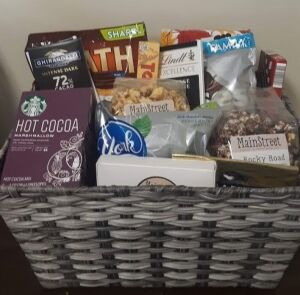 """Chocolate Indulgence Basket"" donated by Faith Bible Church"