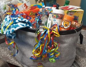 """Family @ Home Movie Night Basket"" donated by NewPointe - Millersburg"