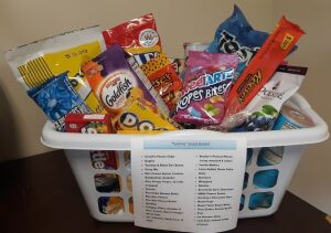 """Yummy Snack Basket"" donated by Martins Creek Mennonite Church"