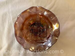 Millersburg Courthouse ruffled bowl- amth