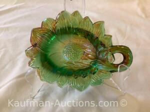 Millersburg Sunflower pin tray- green