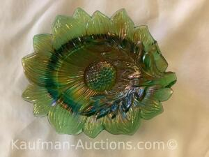 Millersburg Sunflower pin tray- green No Handle