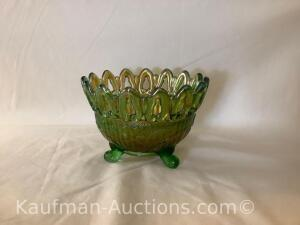Northwood footed bowl - green
