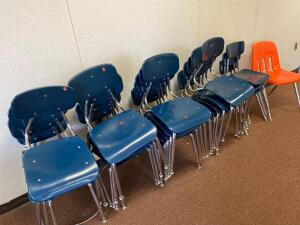 23 school chairs