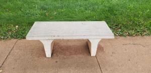 15 36in concrete benches (condition may vary)
