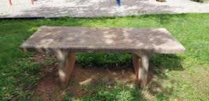 3 large concrete benches
